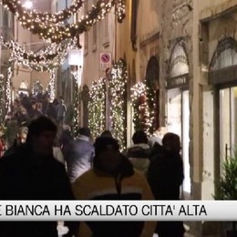 Città Alta, 'Notte Bianca' in versione natalizia