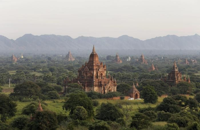 Panorama di Bagan city, Myanmar