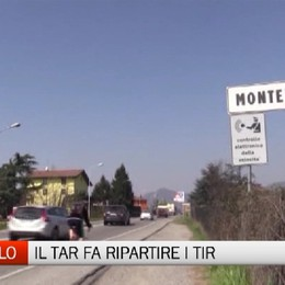 Montello, il Tar fa ripartire i Tir