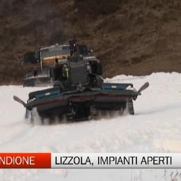 Lizzola, impianti aperti grazie alla neve artificiale