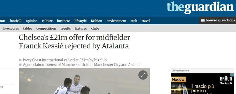 Atalanta rifiuta i 25 milioni del Chelsea Su Kessié anche Manchester e Arsenal