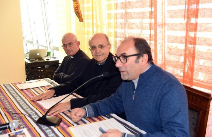 Da sinistra, monsignor Giulio Dellavite, monsignor Davide Pelucchi e don Giambattista Boffi