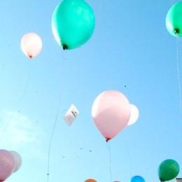 Il palloncino di S. Lucia da Parre a Vicenza «Vorrei la casa per i bimbi di Amatrice»