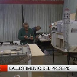 Cerete, l'allestimento del presepio dedicato al Santuario di Colzate