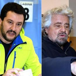 Grillo e Salvini a braccetto «Andiamo subito al voto»