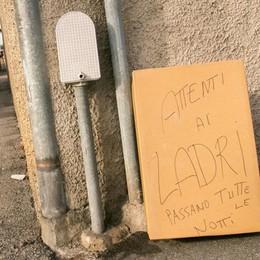 Via Finazzi, l'incubo dei furti  «I ladri arrivano tutte le notti»