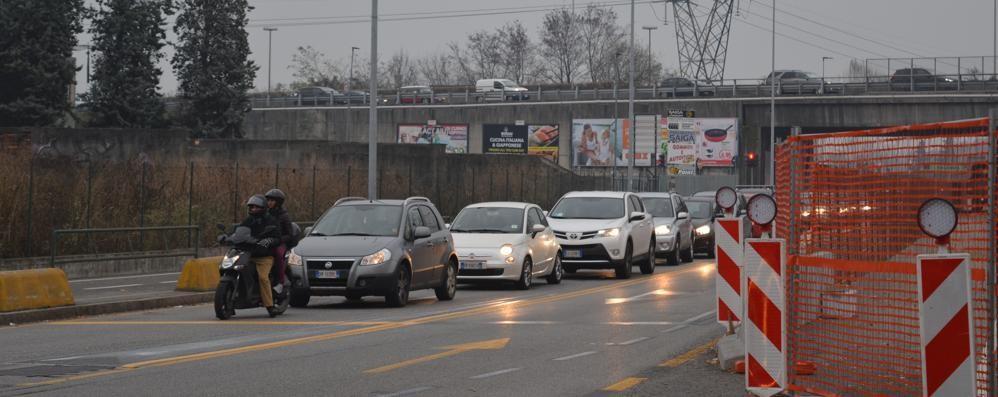 Lavori in corso in via Zanica, è caos «Palafrizzoni riapra via per Orio»