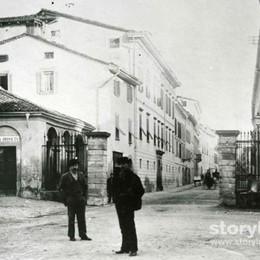 Via Broseta e la porta scomparsa La storia in una foto di fine Ottocento