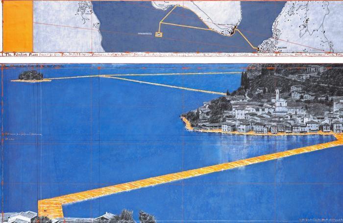 Il ponte galleggiante dell'artista Christo: potenziata la rete ferroviaria per accogliere i turisti sul lago