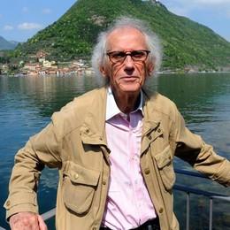 Il ponte galleggiante sul lago d'Iseo Christo presenta l'opera a Bergamo