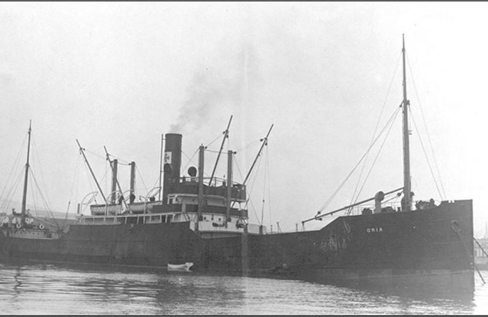 Il piroscafo Oria naufragato in Grecia