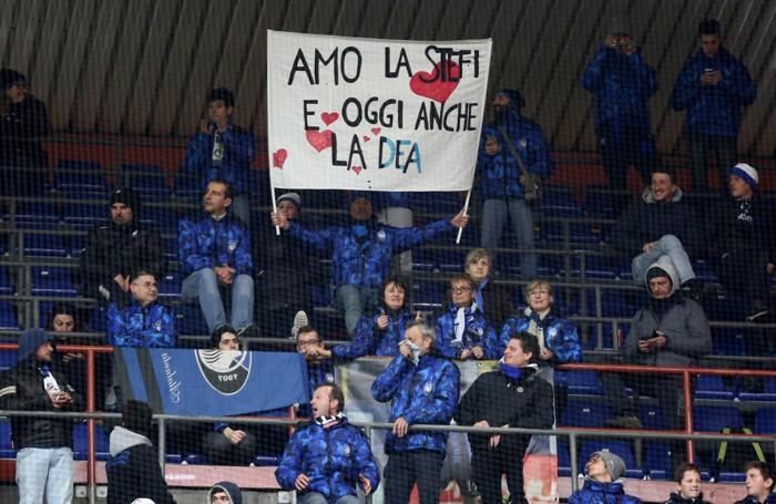 I tifosi dell'Atalanta a Marassi