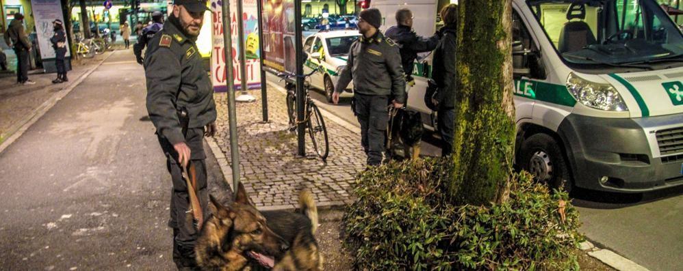 Stazione, scattano i controlli Blitz con i cani antidroga - Video