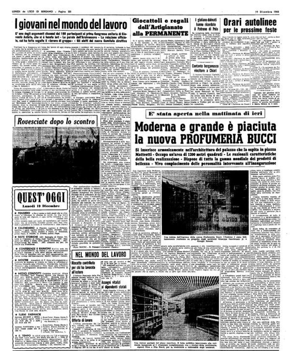 Pagina storica de L'Eco di Bergamo del 1966
