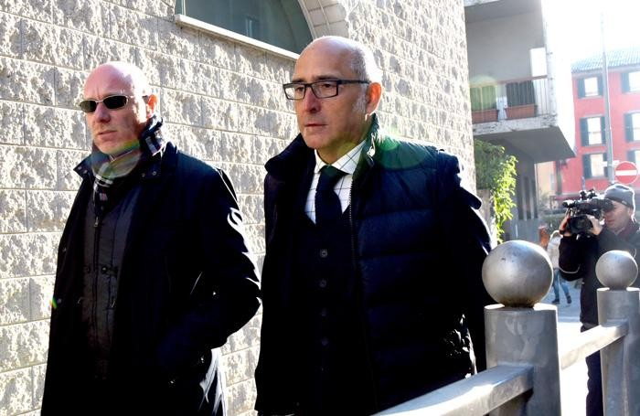 La difesa di Bossetti in Tribunale a Bergamo