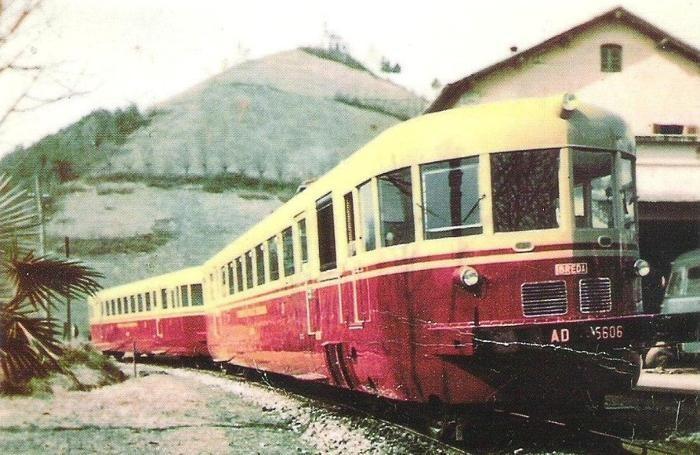 Il treno della Valle Seriana in una foto d'epoca (foto archivio Lorenzo Coter)