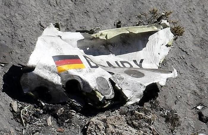 Un rottame del volo Germanwings