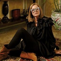 #lungavitaallasignora bergamasca Rossella Jardini, dagli abiti agli occhiali