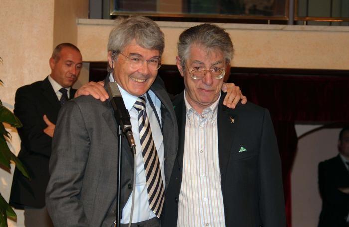 Roberto Castelli con Umberto Bossi