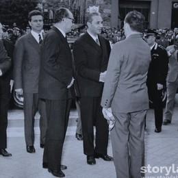 Aldo Moro, all'epoca presidente del Consiglio, in visita a San Pellegrino