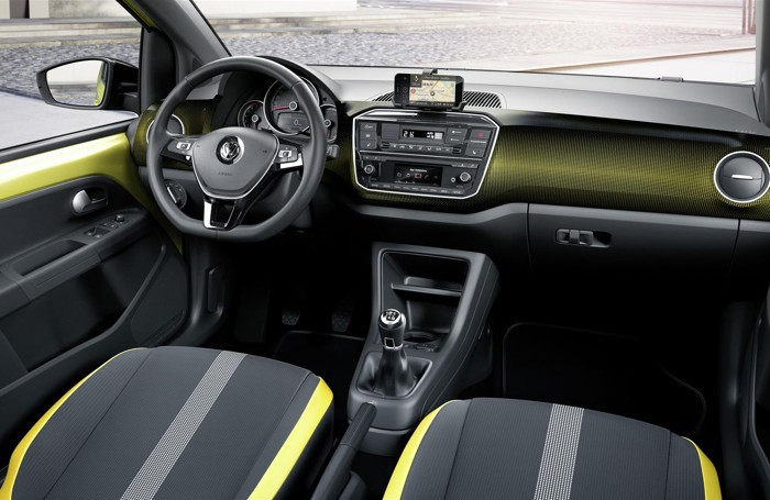 L'interno della Volkswagen up!
