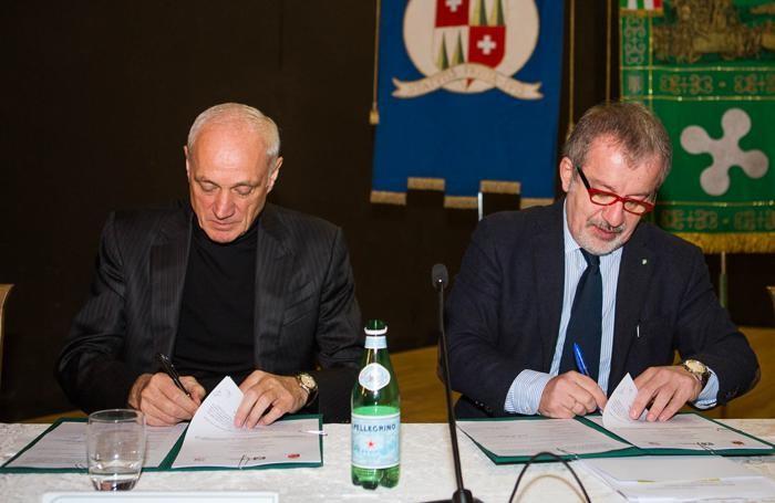 Antonio Percassi e Roberto Maroni