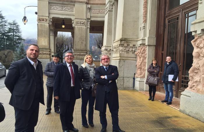 Maroni a San Pellegrino con Claudia Terzi,  assessore regionale bergamasco