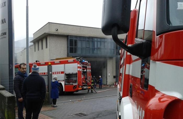 L'incendio a Villongo