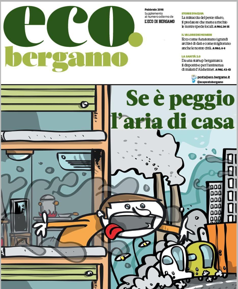 La copertina di eco.bergamo di febbraio 2016