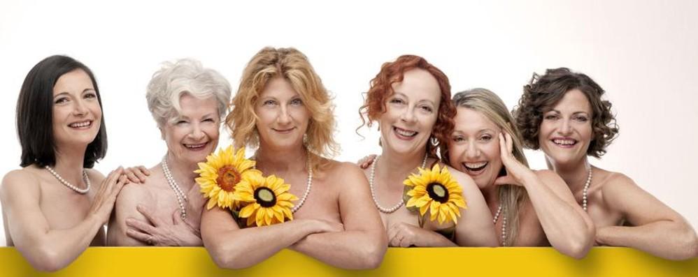 Grandi donne al Donizetti - video Arriva la Finocchiaro con Calendar Girls
