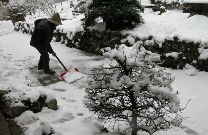 Nevicata al Passo della Presolana