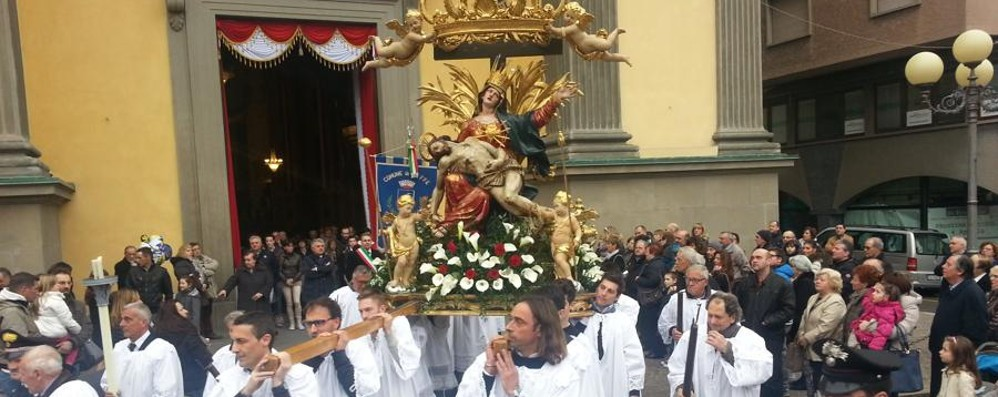 A Leffe la processione della «Madonnina» In serata concerto del corpo musicale