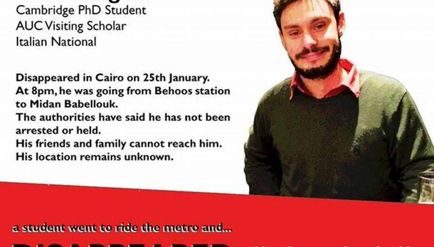 Regeni: magistrati Roma domani al Cairo