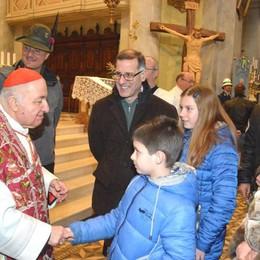 Sacra Spina, il cardinale Tettamanzi: «Preziosa eredità» - Il video dei fuochi