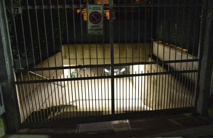 La rampa d'accesso al garage