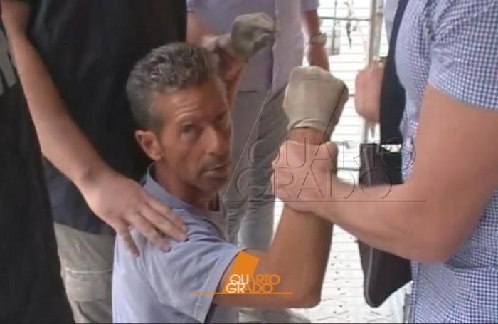 L'arresto di Bossetti: un fotogramma dal filmato di Quarto Grado