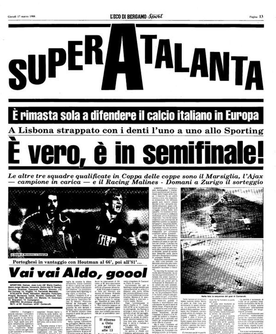 La notizia su L'Eco di Bergamo del 17 marzo '88