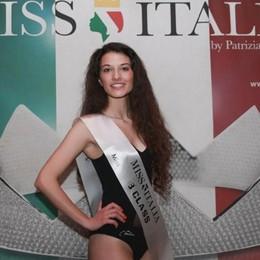 Angelica Colpani di Monasterolo sul podio alle selezioni di Miss Italia