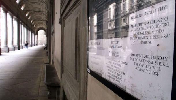 Paletti su scioperi musei, 50% aperto