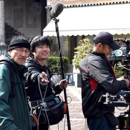 Ciak, telecamere accese in Città Alta Bergamo vola sulla tv giapponese