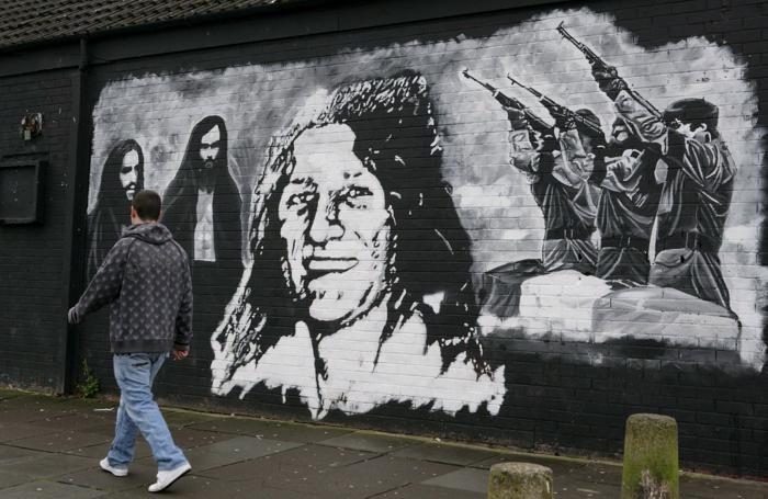 Un murales di Belfast