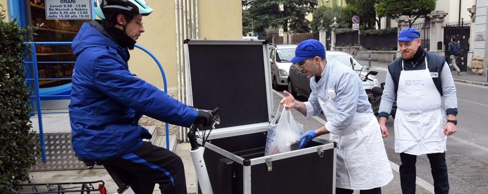 Pesce fresco a Bergamo? Arriva a casa in bicicletta
