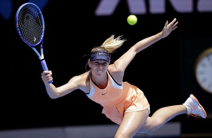 Maria Sharapova in azione