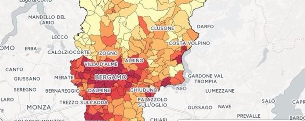 Dove vivono i più ricchi in Bergamasca? La mappa dei redditi in tutti i Comuni