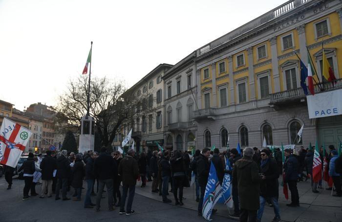 La manifestazione del centrodestra dello scorso gennaio