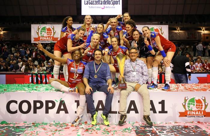 La Foppapedretti vincitrice della Coppa Italia 2015/2016
