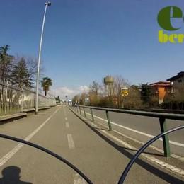 Zanica-Bergamo: «tutto» in 7 minuti La ciclabile è piacevole e sicura - Il video