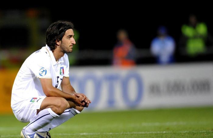 Piermario Morosini con la maglia dell'Under 21 azzurra