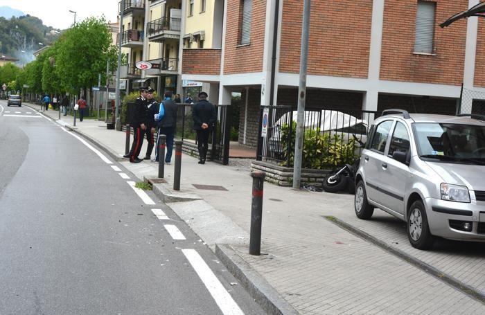 Il luogo dell'incidente a San Pellegrino