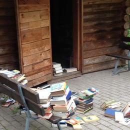 Songavazzo, depredata la casetta dei libri L'appello del sindaco: «Fuori il colpevole»